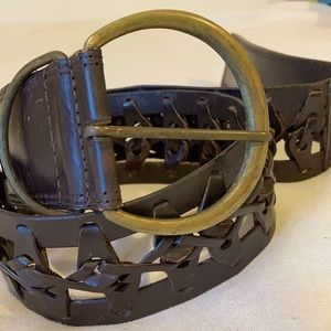 Genuine leather belt with Brass Buckle